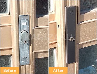 文京区で引き戸の鍵交換
