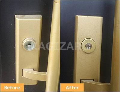 八王子市で玄関の鍵をディンプルに交換