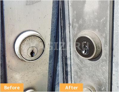 東村山市で玄関ドアの鍵を交換