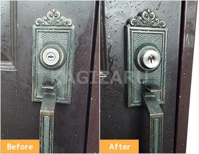 目黒区でサムラッチ錠の鍵交換