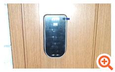 設置場所が狭いところでも取り付けられる電子錠