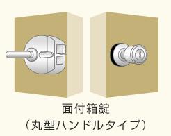 面付箱錠(丸形ハンドル)