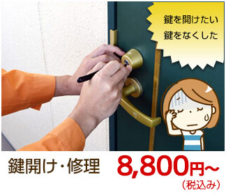 京都市右京区で鍵開け・鍵修理