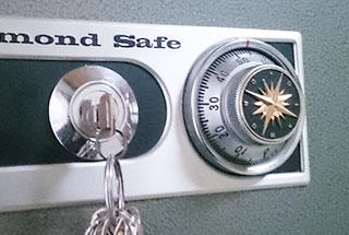 金庫の鍵を紛失した