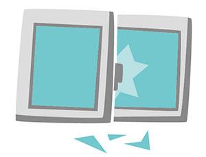 窓からの侵入を防ぐ