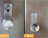 高槻市明野町でマンションのPMK箱錠を交換しました