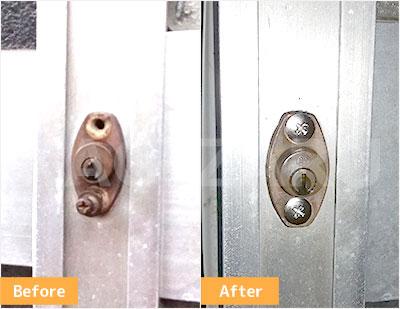 千葉市で玄関の鍵修理