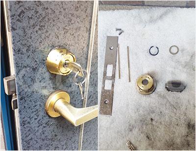 大東市で玄関の鍵修理