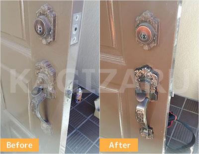 神戸市東灘区で玄関の鍵修理