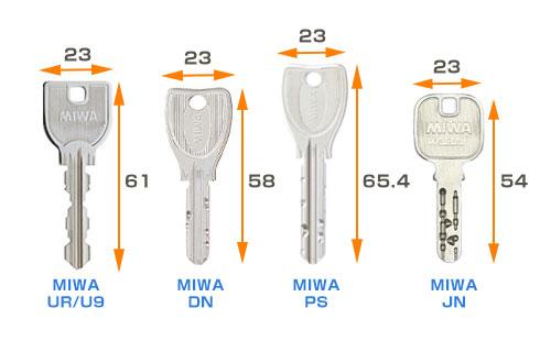 トステムについているMIWAの鍵一覧