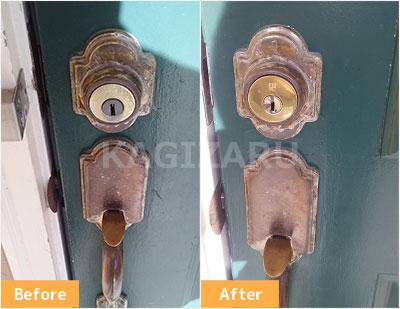 世田谷区で玄関の鍵交換